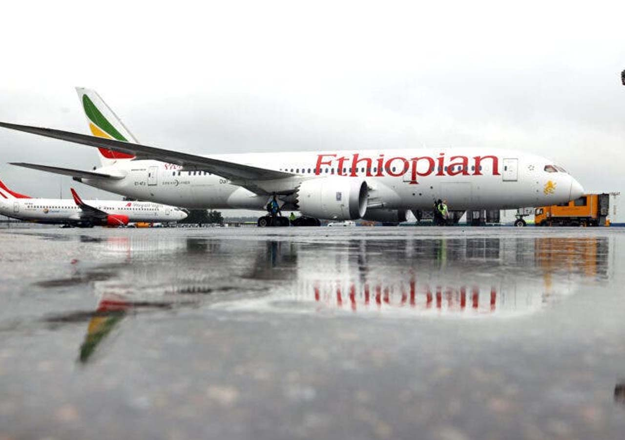 Rich results on Google's SERP when searching for 'Ethiopian Airlines'